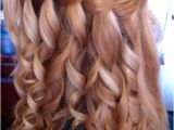 Hairstyles for School Graduation Waterfall Braid for Curly Hair