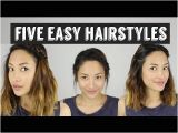 Hairstyles for School Long Hair Youtube Five Quick & Easy Hairstyles