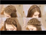 Hairstyles for School Long Hair Youtube the 2 Minute Rope Braid Hairstyle