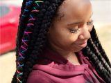 Hairstyles for School with Box Braids Jumbo Box Braids Hair Pinterest