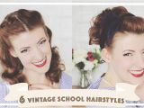Hairstyles for School Year 7 6 Easy Vintage 1950s Back to School Hairstyles [cc]