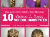 Hairstyles for School Yt 40 Best Quick Hairstyles Images