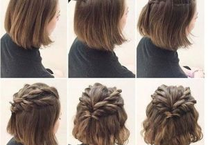 Hairstyles for Short Hair Up to Your Shoulders Quick and Easy Short Hair Styles Bridal Pinterest