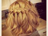 Hairstyles for Shoulder Length Hair Braids Waterfall Braid Medium Length Short Hair Honey Blonde
