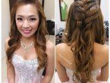 Hairstyles for Wedding Dinner Wedding Dinner Makeup & Hairdo Princess Braided Wavy