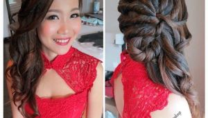 Hairstyles for Wedding Dinner Wedding Dinner Makeup & Hairdo Romantic Curl Twisted