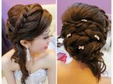 Hairstyles for Wedding Dinner Wedding Dinner Makeup and Hairdo Braided Hairstyle
