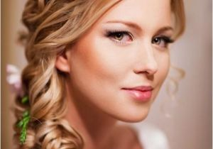 Hairstyles for Weddings to the Side Chic Wedding Hairstyles to the Side with Flowers