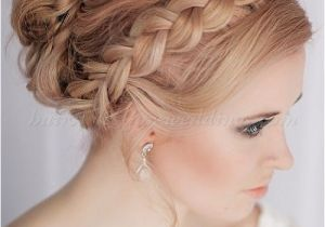 Hairstyles for Weddings with Braids Braided Wedding Hairstyles Crown Braid Wedding Hairstyle