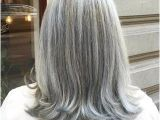 Hairstyles Grey Highlights Icy Silver Hair Transformation is the 2018 S Coolest Trend