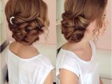 Hairstyles In Buns On Sides Side Swept Updo Draped Updo Wedding Hairstyles Bridal Hair Ideas