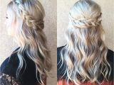 Hairstyles Plaits Down Braided Half Up Half Down Hair We ❤ This