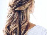 Hairstyles Plaits Down Plaited Bridal Hair Half Up Half Down Weddinghairstyles
