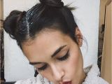 Hairstyles Space Buns Gizele Oliveira Space Buns Glitter Bunz In 2018
