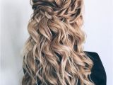 Hairstyles to Keep Hair Down Partial Updo Bridal Hairstyle Half Up Half Down Wedding Hairstyles