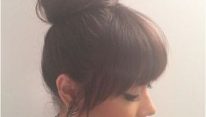 Hairstyles top Buns top Bun and Bangs … Hair Ideas