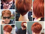 Hairstyles while Growing Out Pixie Cut Pixie Back View Red orange Ginger Growing Out A Pixie Short