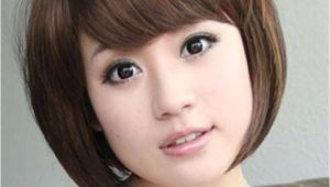 Hairstyles with Bangs On Round Faces Hairstyle for Round Chubby asian Face Hair Pic