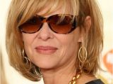Hairstyles with Bangs Over 60 Kate Capshaw Short Blonde Messy Haircut with Bagns for Women Over 60