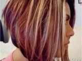 Hairstyles with Blonde Red and Brown Highlights Angled Bob with Blonde Highlights Brown and Red Lowlights Rfect