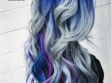 Hairstyles with Blue Dye Falling Snowflakes Hairbykaseyoh is the Artist Pulp Riot is