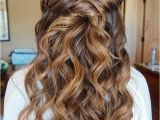 Hairstyles with Curls Half Up Half Down 36 Amazing Graduation Hairstyles for Your Special Day