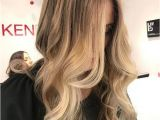 Hairstyles with Front Highlights Warm Honey Blonde Hair Color 2018 2019 with Lighter Front Streaks