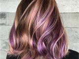Hairstyles with Lavender Highlights 40 Versatile Ideas Of Purple Highlights for Blonde Brown and Red