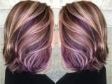 Hairstyles with Lavender Highlights Purple Peekaboo Hair Color Colorful Hair Pinterest
