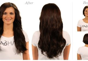 Hairstyles with Weave Clip Ins before N after 2 Dark Brown Hairextensions Remy Hair Hairstyles