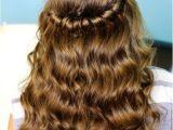 Half Braided Half Curly Hairstyles Hairstyles Half Up Half Down with Curls