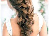 Half Braided Half Curly Hairstyles Half Up Half Down Hair with Curls