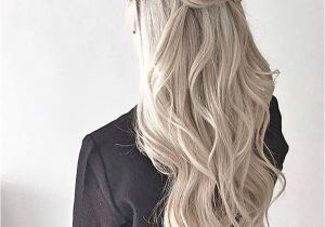 Half Up and Down Hairstyles Pinterest Thick Crown Braid Waves Half Up Half Down Style