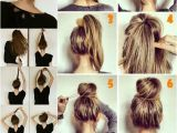 Half Up Hairstyles for Greasy Hair Hair Buns top Knot Half Up Half Down Half Bun Hair
