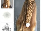 Half Up Hairstyles for toddlers Half Up Loop Braid with A Pretty Hair Flower From Goudhaartje