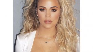 Half Up Hairstyles Khloe Kardashian Khloe Kardashian Curly Half Up Ponytail