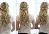 Half Up Hairstyles Youtube Bridal Hair Tutorial Half Up Half Down