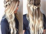 Half Up Half Down Hairstyles Knot Knotted Crown Braid Half Up Half Down Hairstyle Promhair