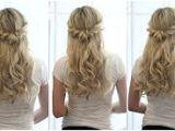 Half Up Half Down Hairstyles On Youtube Bridal Hair Tutorial Half Up Half Down