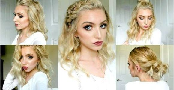 Half Up Half Down Hairstyles On Youtube Cute Summer Half Up Half Down Hairstyle Dutch Fishtail Braid