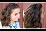 Half Up Half Down Hairstyles On Youtube Diy Faux Waterfall Headband