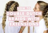 Half Up Half Down Hairstyles On Youtube How to Do Double Dutch Braids with Hair Extensions