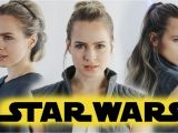 Half Up Half Down Hairstyles On Youtube Star Wars the Last Jedi Hairstyles Tutorial Rey & General Leia