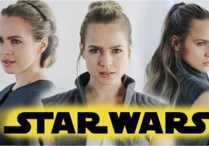 Half Up Half Down Hairstyles On Youtube Star Wars the Last Jedi Hairstyles Tutorial Rey & General Leia