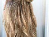 Half Up Knot Hairstyles Half Up Half Down Messy Bun Hair