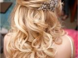 Half Up Medium Curly Hairstyles 15 Fabulous Half Up Half Down Wedding Hairstyles