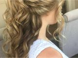 Half Up Medium Curly Hairstyles 41 Awesome Half Up Curly Hairstyles
