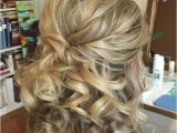 Half Up Medium Curly Hairstyles 50 Half Updos for Your Perfect Everyday and Party Looks In 2018