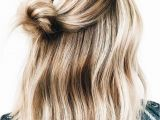 Half Up Messy Bun Hairstyles Cusp Brass Ponytail Hair Tie Cover In 2018