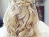 Half Up Party Hairstyles 114 Best Half Up Half Down with Braids Images